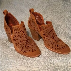 Jeffrey Campbell Perforated Leather Medallion Boot